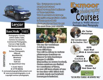 exmoor photography course leaflet