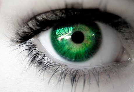 green contact lens