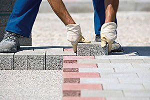 Driveway brick laying