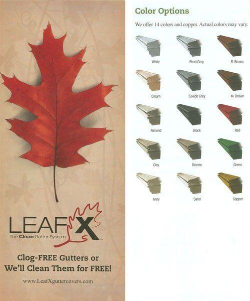 Leafx — Gutter Color Options in Delavan, WI