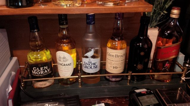 Whiskeys at The Old Royal George