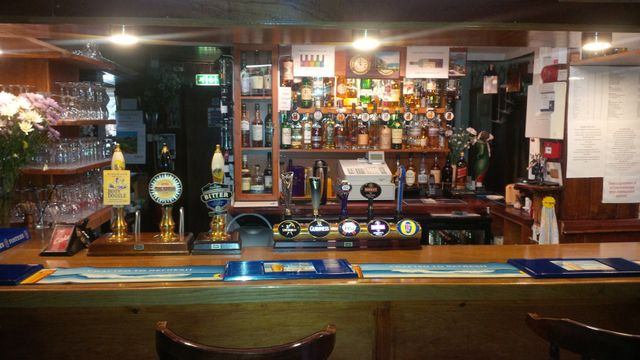 Bar at the public house in Northallerton