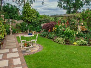 Beauty landscaping work