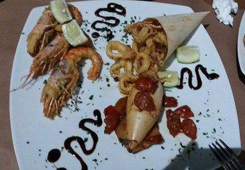 Frittura al cartoccio Ristorante Pizzeria Gusto Divino di Giovanni Grado a Montallegro