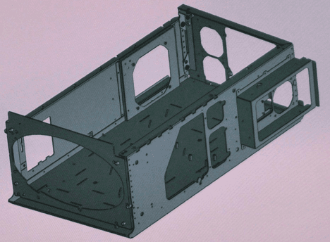 fabricated metal internal structure