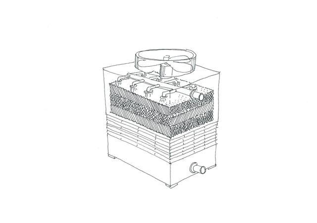 Disegno per torre da raffreddamento a circuito aperto TMA