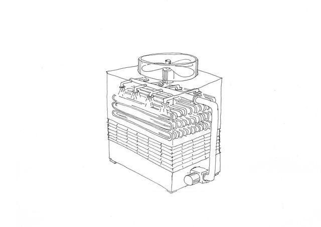 Torre da raffreddamento a circuito chiuso ref A