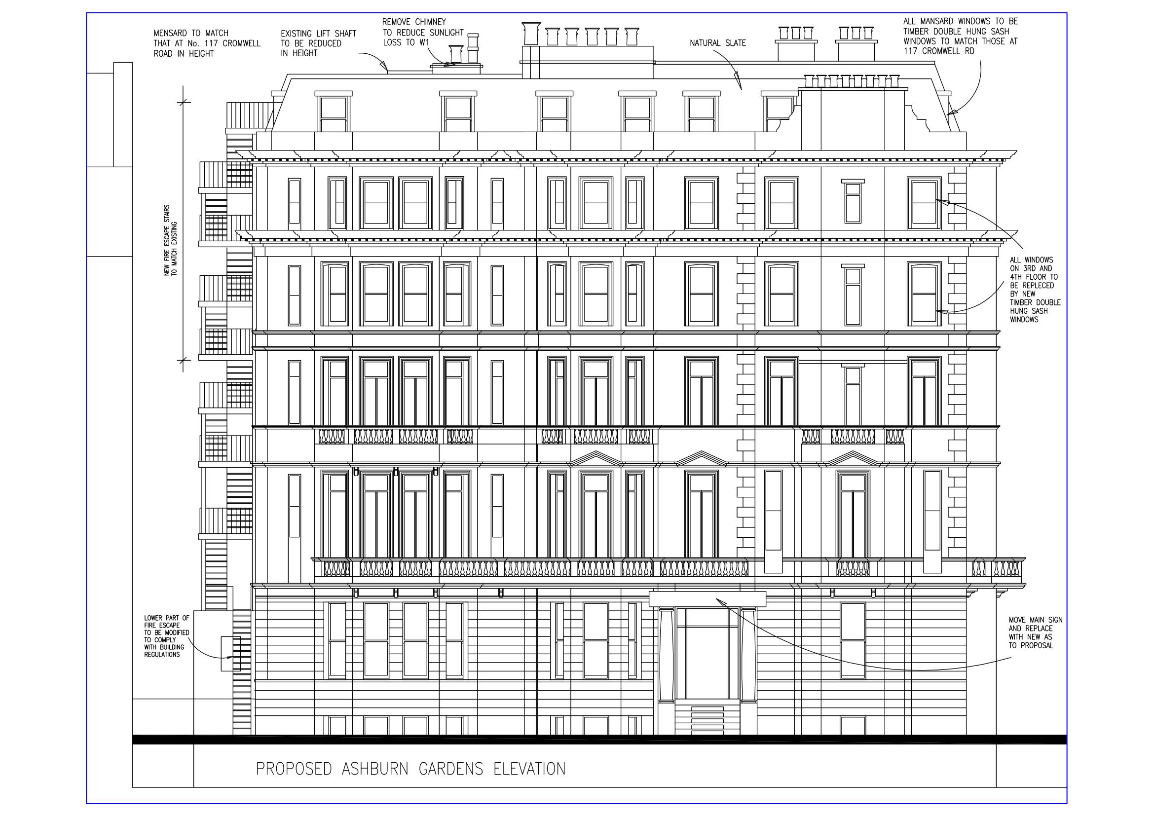Blue print for buildings