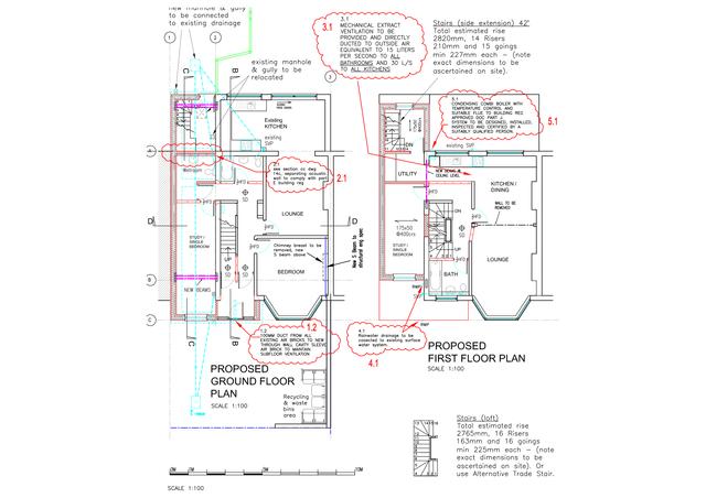 Sample drawings for properties
