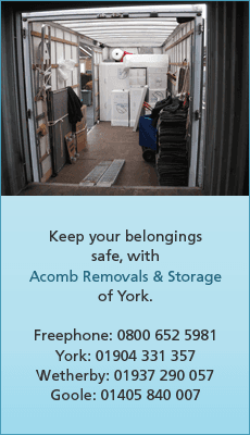 Home removals - Wetherby, North Yorkshire - Acomb Removals and Storage - secure storage