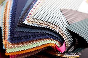 A book of fabric samples