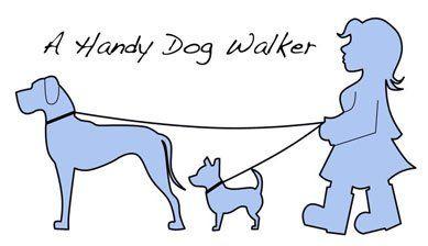A handy dog walker company logo