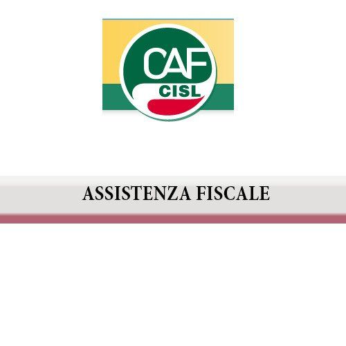 Logo Caf Cisl e la scritta assistenza fiscale