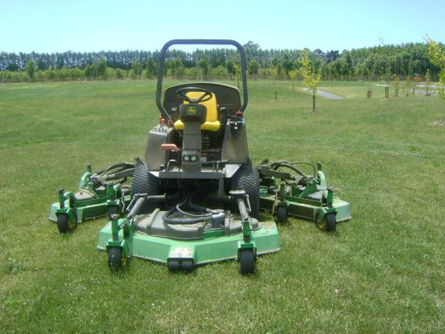A ride-on mower
