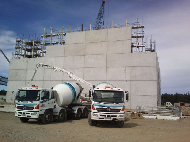 Trucks used by concrete supplier in Central Otago
