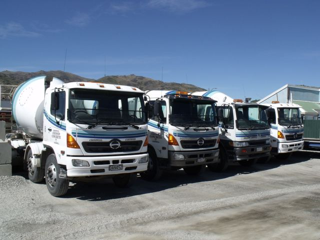 concrete supplier trucks