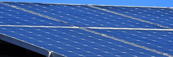 large amount of solar panels