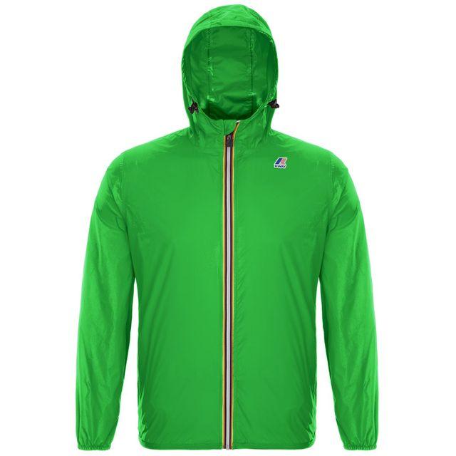 Giacchetto primaverile verde con cappuccio K-Way afd56cc62d8