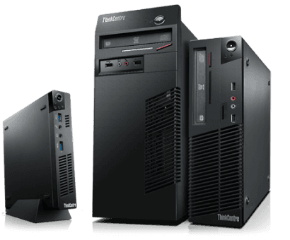 tre computer fissi tower neri