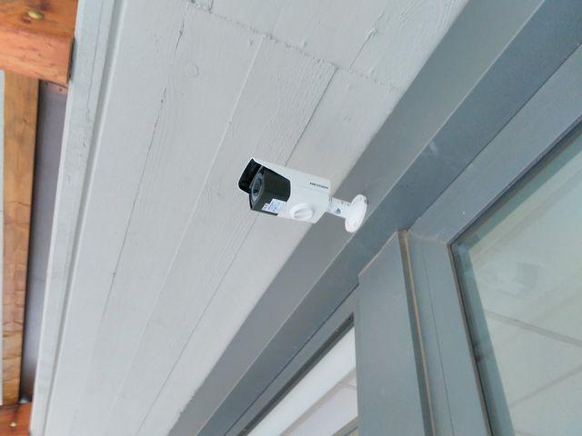 telecamera di sicurezza di un garage