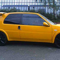 Yellow car tinting