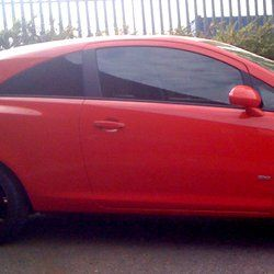 Red car tinting