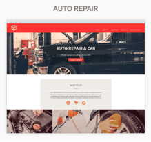 Auto Shop Website Templates