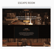 Escape Room Website Templates
