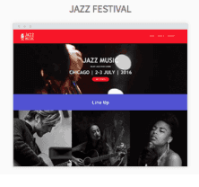 Jazz Festival Website Templates