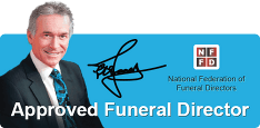 Approved funeral directors logo