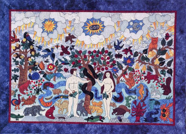 Adam and Eve Quilt by Suzanne Marshall
