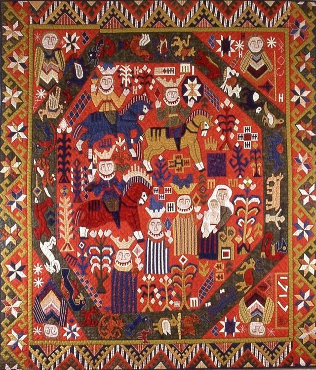 Adoration of the Magi Quilt by Suzanne Marshall, a Quilt Maker