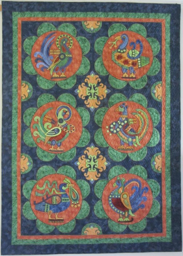 Along the Silk Road Quilt by Suzanne Marshall
