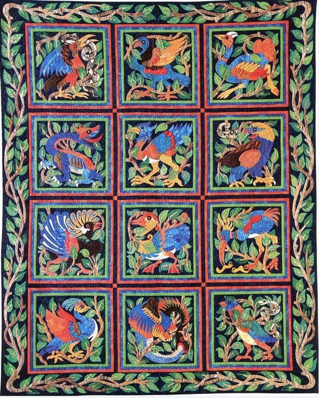 And Dragons, Too Quilt by Suzanne Marshall