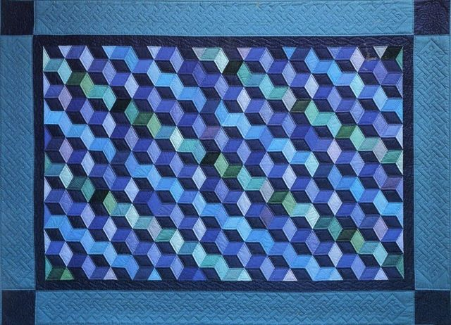 Baby Blocks Quilt by Suzanne Marshall, a Quilt Maker