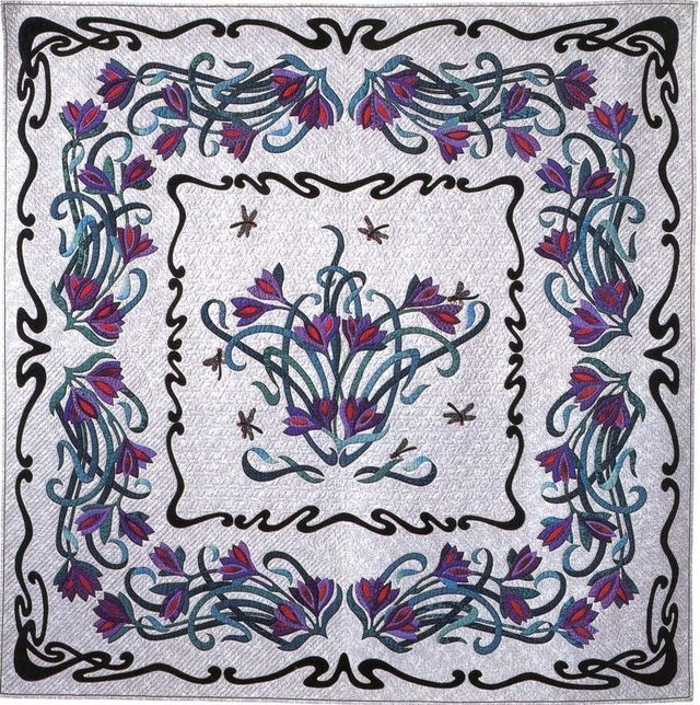 Dragon Flowers by Suzanne Marshall, a Quilt Maker