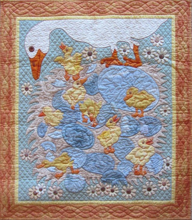 Ducklings for Baby Zoe by Suzanne Marshall, a Quilt Maker