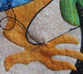 Embroidered Applique Workshop Sample 2, Suzanne Marshall Quilt Maker