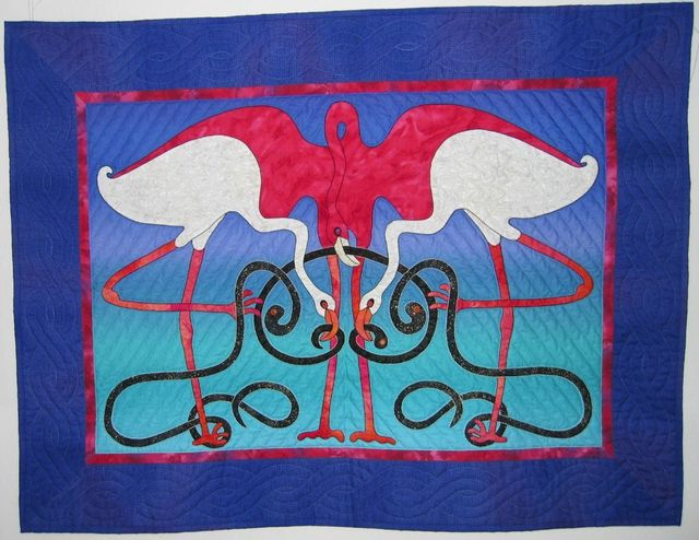 Flamingoes by Suzanne Marshall, a Quilt Maker