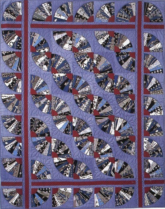 Japanese Fans Quilt by Suzanne Marshall, a Quilt Maker