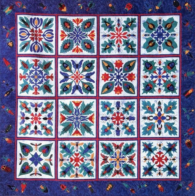 Leafhoppers Quilt by Suzanne Marshall