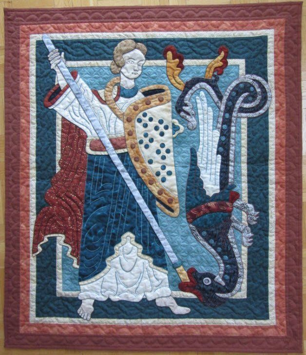 St. Michael by Suzanne Marshall, a Quilt Maker