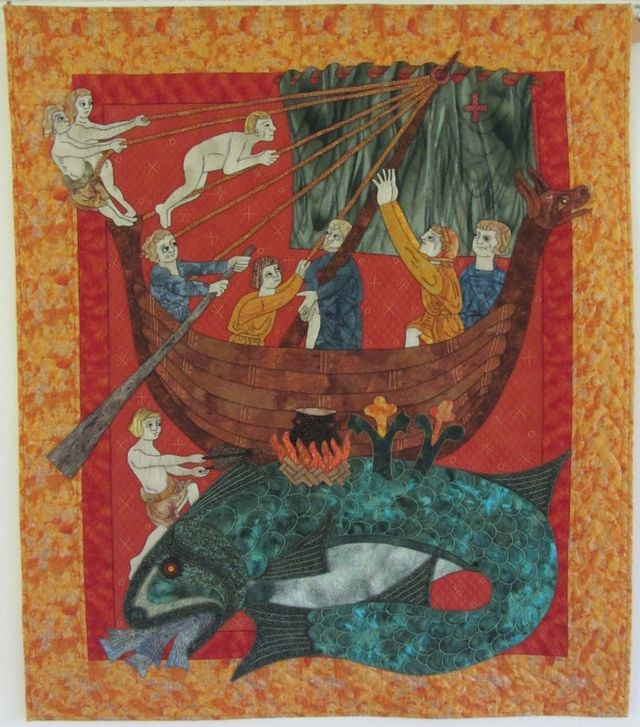 The Beastiary's Whale by Suzanne Marshall, a Quilt Maker