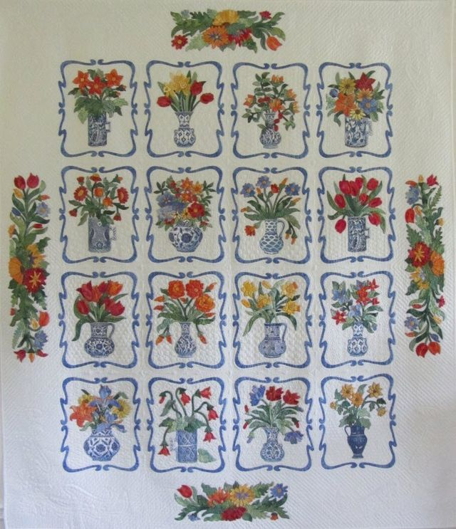 Vases Quilt by Suzanne Marshall, a Quilt Maker