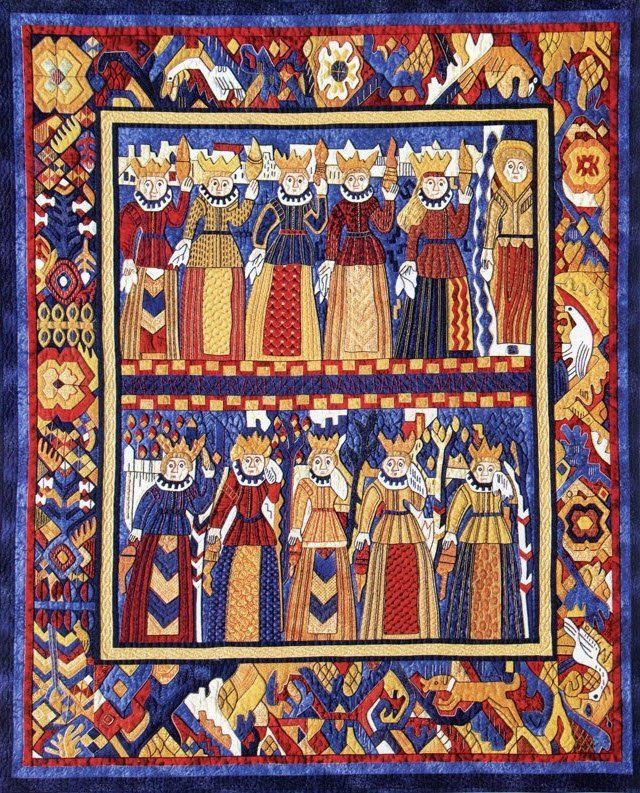 Wise and Foolish Virgins Quilt by Suzanne Marshall, a Quilt Maker