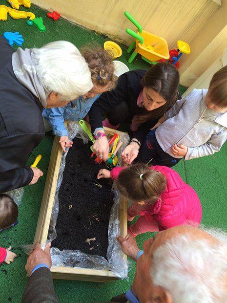 Bambini imparando al nido di nina a Torino