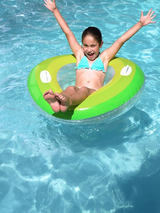 A girl able to swim in Christchurch after our pool cleaning services