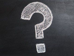 chalkboard question mark