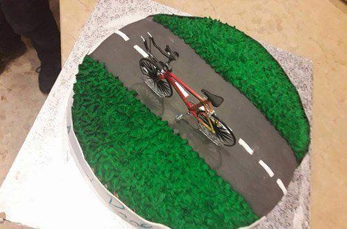 torta personalizzata con bicicletta