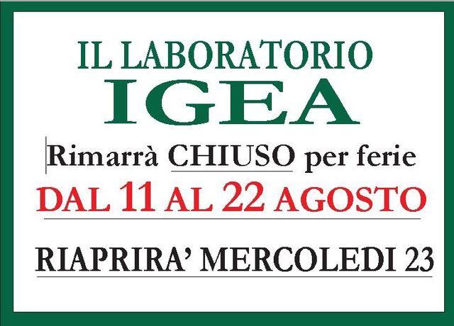 Chiusura laboratorio Igea